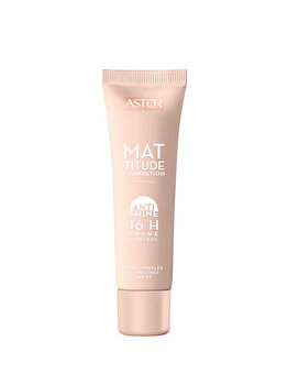 Fond de ten Astor Mattitude Foundation, Golden Beige 102, 30 ml de la Astor