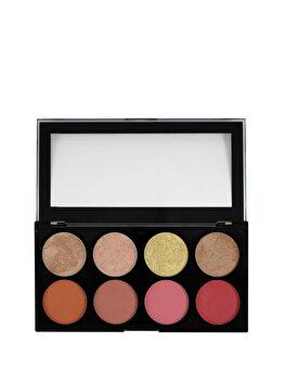 Paleta farduri de obraz si iluminator, nuanta Blush Goddess, 13 g de la Makeup Revolution London