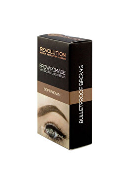 Crema de stilizare pentru sprancene, Soft Brown, 2.5 g de la Makeup Revolution London