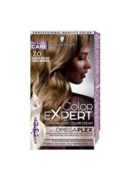 Vopsea de par Color Expert, 7-0 Blond Inchis, 146.8 ml de la Schwarzkopf Color Expert