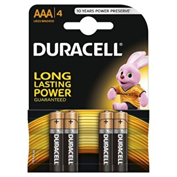 Baterie Duracell Basic AAA LR03 4buc de la Duracell