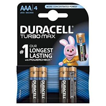 Baterie Duracell Turbo Max AAA LR03 4buc de la Duracell