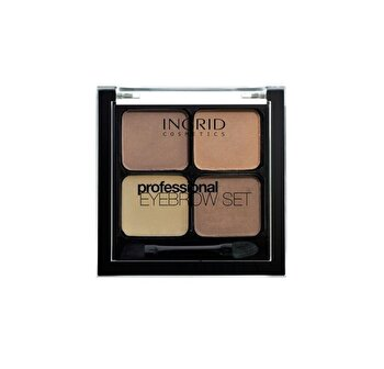Set de stilizare pentru sprancene, Brown, Brown, 7 g de la INGRID Cosmetics