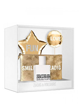 Set cadou Zadig & Voltaire This is Her (Apa de parfum 50 ml + Geanta de cosmetice), pentru femei de la Zadig & Voltaire