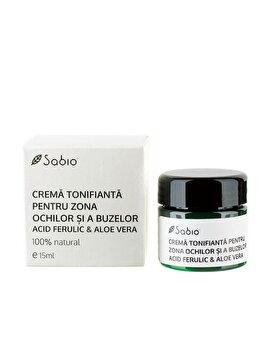 Crema tonifianta pentru zona ochilor si a buzelor cu Acid Ferulic si Aloe Vera, 15 ml de la Sabio