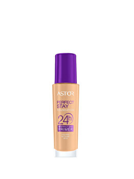 Fond de ten Astor Perfect Stay 24h + Perfect Skin Primer, 203 Peachy, 30 ml de la Astor