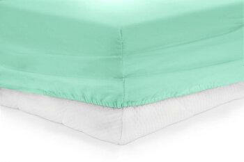 Cearceaf de pat cu elastic, Heinner, HR-ZSHEET-140TRQ, 100 procente bumbac, 140×200 cm, Turcoaz de la Heinner