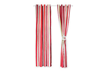 Set 2 draperii decorative, Heinner, HR-DR140-RED01, 140×270 cm, 100 procente bumbac de la Heinner