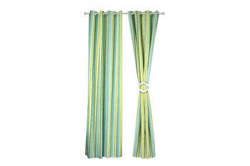 Set 2 draperii decorative, Heinner, HR-DR140-GRN01, 140×270 cm, 100 procente bumbac de la Heinner