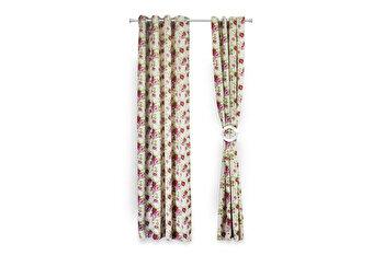 Set 2 draperii decorative, Heinner, HR-DR140-FLWPK, 140×270 cm, 100 procente bumbac de la Heinner