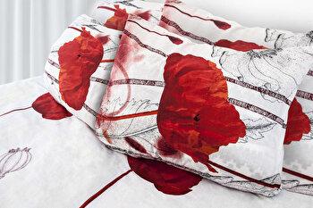 Lenjerie de pat, dubla, Heinner, HR-6BED-144-01, bumbac, 6 piese, 200 x 220 cm de la Heinner