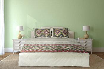 Lenjerie de pat pentru doua persoane, Heinner, HR-4BED-TRD02, bumbac,200 x 220 cm de la Heinner