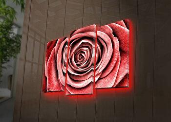Tablou decorativ canvas cu leduri (3 Piese) Ledda, 254LED4269, Multicolor de la Ledda