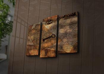 Tablou decorativ canvas cu leduri (3 Piese) Ledda, 254LED3229, Multicolor de la Ledda