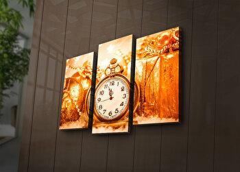 Tablou decorativ canvas cu leduri (3 Piese) Ledda, 254LED3230, Multicolor de la Ledda