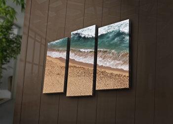 Tablou decorativ canvas cu leduri (3 Piese) Ledda, 254LED3247, Multicolor de la Ledda