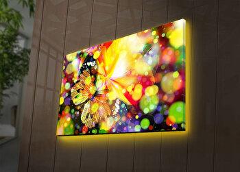 Tablou decorativ canvas cu leduri Ledda, 254LED3283, Multicolor de la Ledda