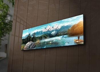 Tablou decorativ canvas cu leduri Ledda, 254LED1212, Multicolor