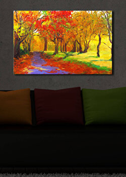 Tablou decorativ canvas cu leduriShining, 239SHN1234, Multicolor