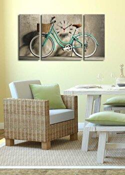 Tablou decorativ cu ceas Clock Art, 228CLA3634, Multicolor de la Clock Art