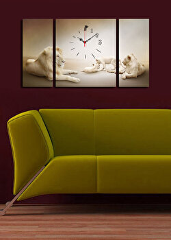 Tablou decorativ cu ceas Clock Art, 228CLA3638, Multicolor de la Clock Art