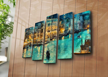 Tablou decorativ canvas Bonanza, 242BNZ5259, Multicolor