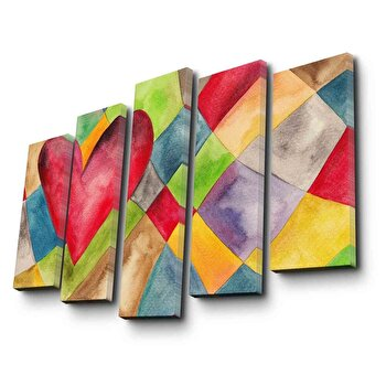 Tablou decorativ Canvart, 249CVT1258, Multicolor de la Canvart
