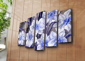 Tablou decorativ canvas (5 Piese) Horizon, 237HRZ3255, Multicolor de la Horizon