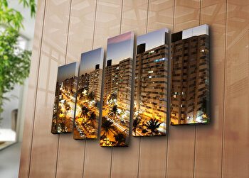 Tablou decorativ canvas (5 Piese) Horizon, 237HRZ3257, Multicolor de la Horizon