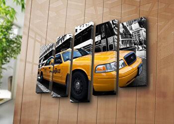 Tablou decorativ canvas (5 Piese) Horizon, 237HRZ3261, Multicolor de la Horizon