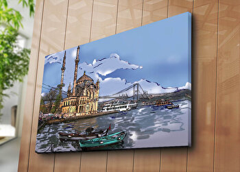 Tablou decorativ canvas Horizon, 237HRZ5262, Multicolor