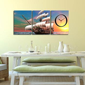 Tablou decorativ cu ceas Clockity, 248CTY1674, Multicolor de la Clockity