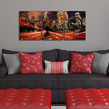Tablou decorativ cu ceas Clockity, 248CTY1676, Multicolor de la Clockity