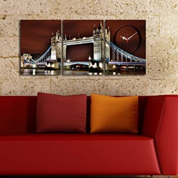 Tablou decorativ cu ceas Clockity, 248CTY1677, Multicolor de la Clockity