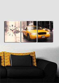 Tablou decorativ cu ceas Clock Art, 228CLA3608, Multicolor