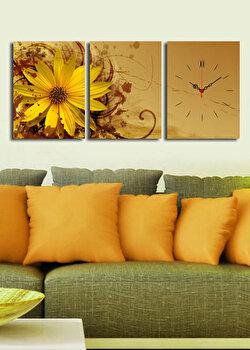 Tablou decorativ cu ceas Clock Art, 228CLA2689, Multicolor