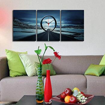 Tablou decorativ cu ceas Clockity, 248CTY1689, Multicolor