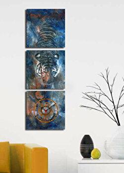 Tablou decorativ cu ceas Clock Art, 228CLA2669, Multicolor