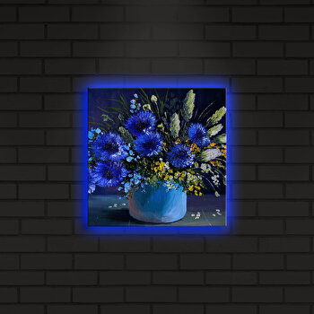 Tablou decorativ canvas cu leduri Shining, 239SHN4264, Multicolor