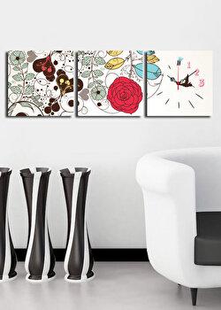 Tablou decorativ cu ceas Clock Art, 228CLA2671, Multicolor