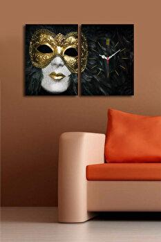 Tablou decorativ cu ceas Clock Art, 228CLA2635, Multicolor