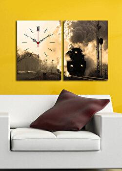 Tablou decorativ cu ceas Clock Art, 228CLA2643, Multicolor