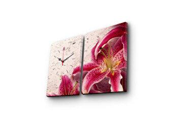 Tablou decorativ cu ceas Clock Art, 228CLA2621, Multicolor
