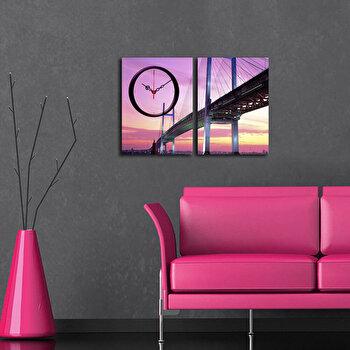 Tablou decorativ canvas cu ceas Clockity, 248CTY1656, Multicolor de la Clockity