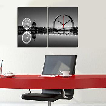 Tablou decorativ cu ceas Clockity, 248CTY1658, Multicolor de la Clockity