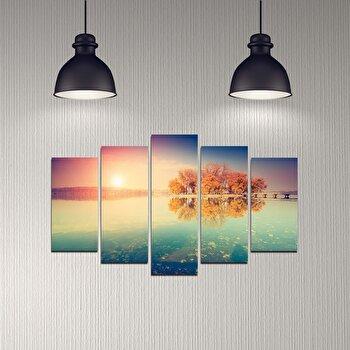 Tablou decorativ 5 Piese, Melody, 232MLD2911, Multicolor de la Melody