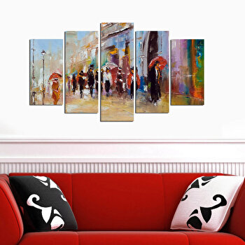 Tablou decorativ 5 Piese, Melody, 232MLD1907, Multicolor de la Melody