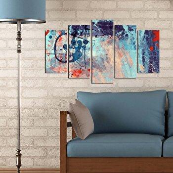 Tablou decorativ (5 Piese) Pure, 250PUR1928, Multicolor de la Pure