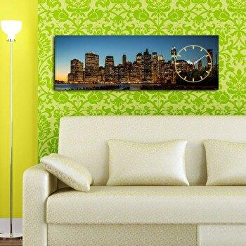 Tablou decorativ cu ceas Clockity, 248CTY1613, Multicolor