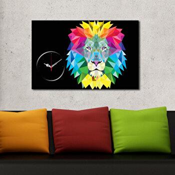 Tablou decorativ cu ceas Clockity, 248CTY1645, Multicolor